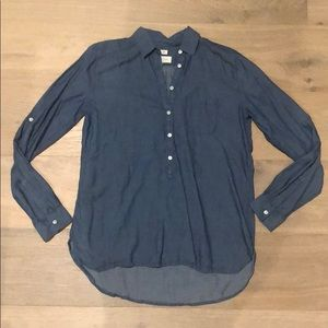 Worn once - Loft chambray button down tunic